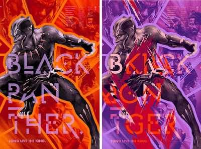 Black Panther Movie Poster Screen Print by Martin Ansin x Mondo