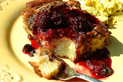 Breakfast Berry Pudding