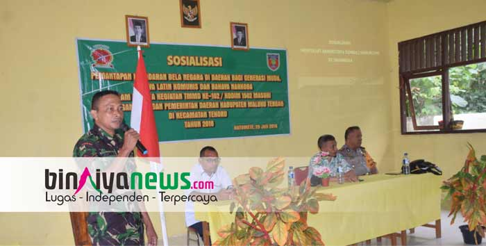 SATGAS TMMD Gelar Sosialisasi Bela Negara