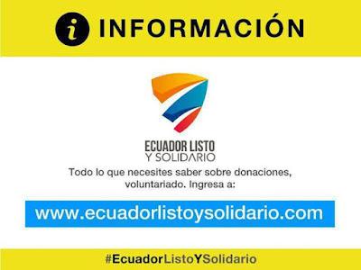 #EcuadorListoySolidario