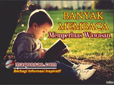 Banyak Membaca Memperluas Wawasan, Membaca Buku Jendela Dunia