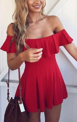 vestido rojo corto elegante