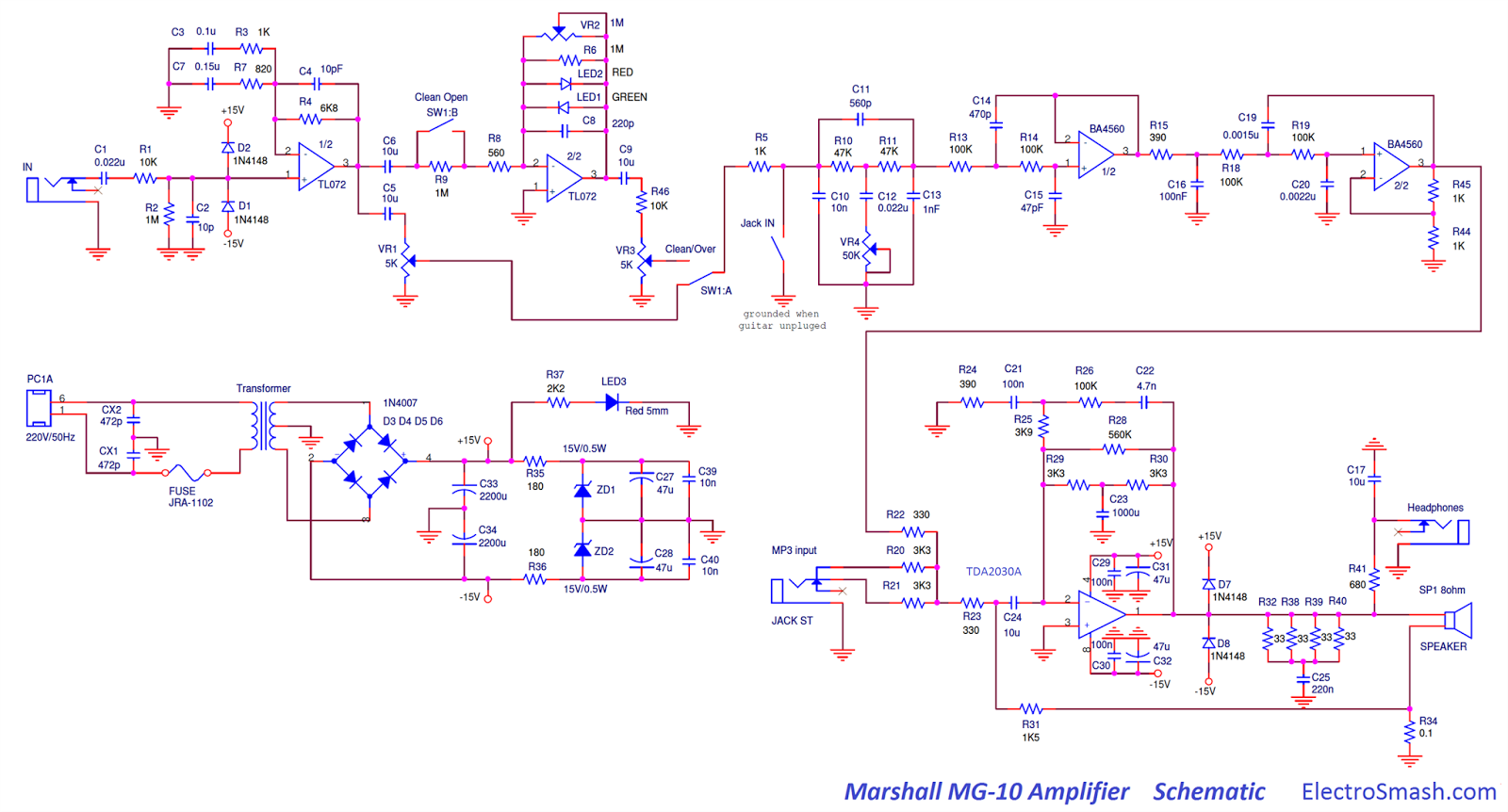 marshall mg10 schematic marshall mg10 modification guitar dreamer  at alyssarenee.co
