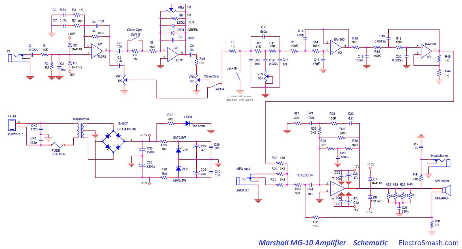 Marshall Mg 4x12 Wiring Diagram 100 | Wiring Library