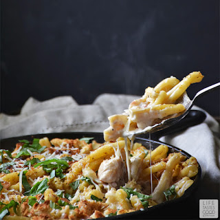 Chicken Cordon Bleu Pasta | by Life Tastes Good