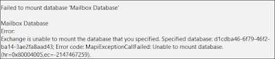 Mapiexceptioncallfailed Unable To Mount