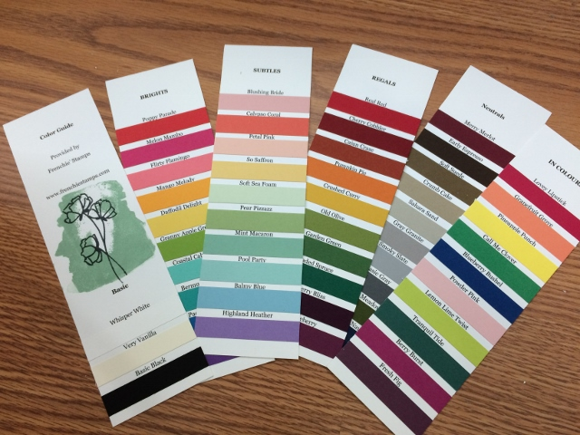 Stampin'Up! 2018 Color swatches, Customer Appreciation with Frenchie Stamps,
