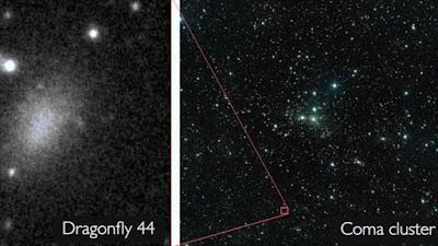Imagen de la ubicación de la galaxia Dragonfly 44.
