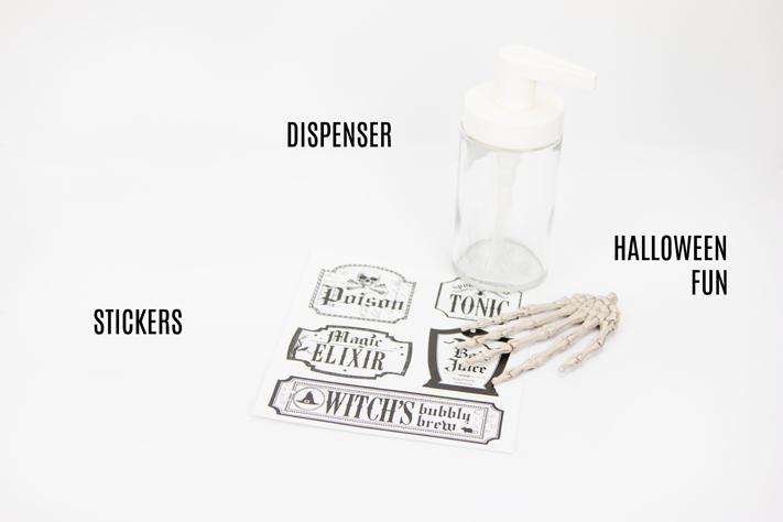 DIY Halloween Soap Dispensers by @createoften