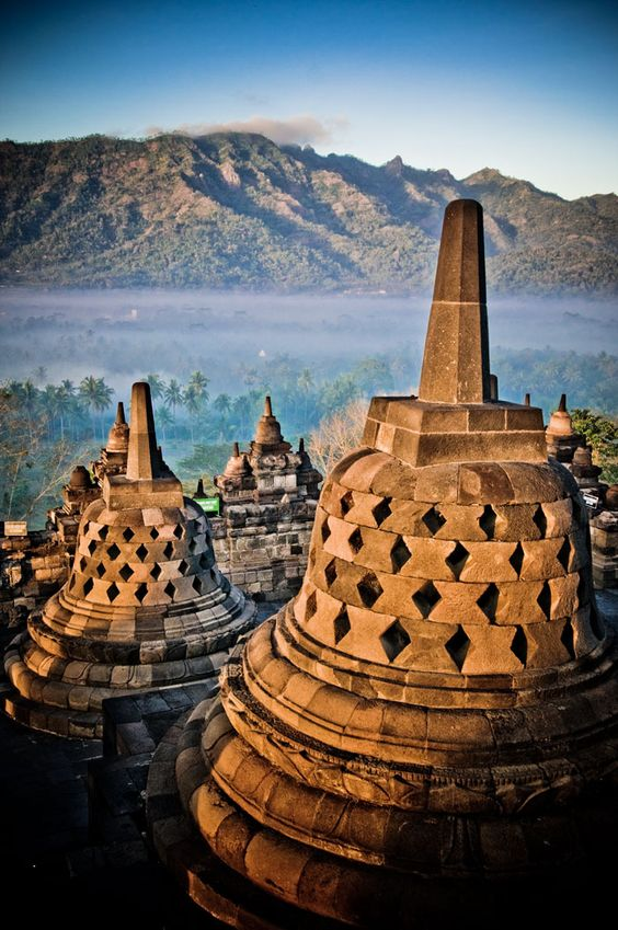 Borobudur and the surrounding environtment