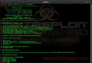 wpscan -u (url target) --enumerate tt