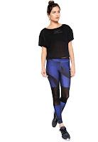 Moda Mizuno Legging Mizuno Synchro Stamp Azul/Preta