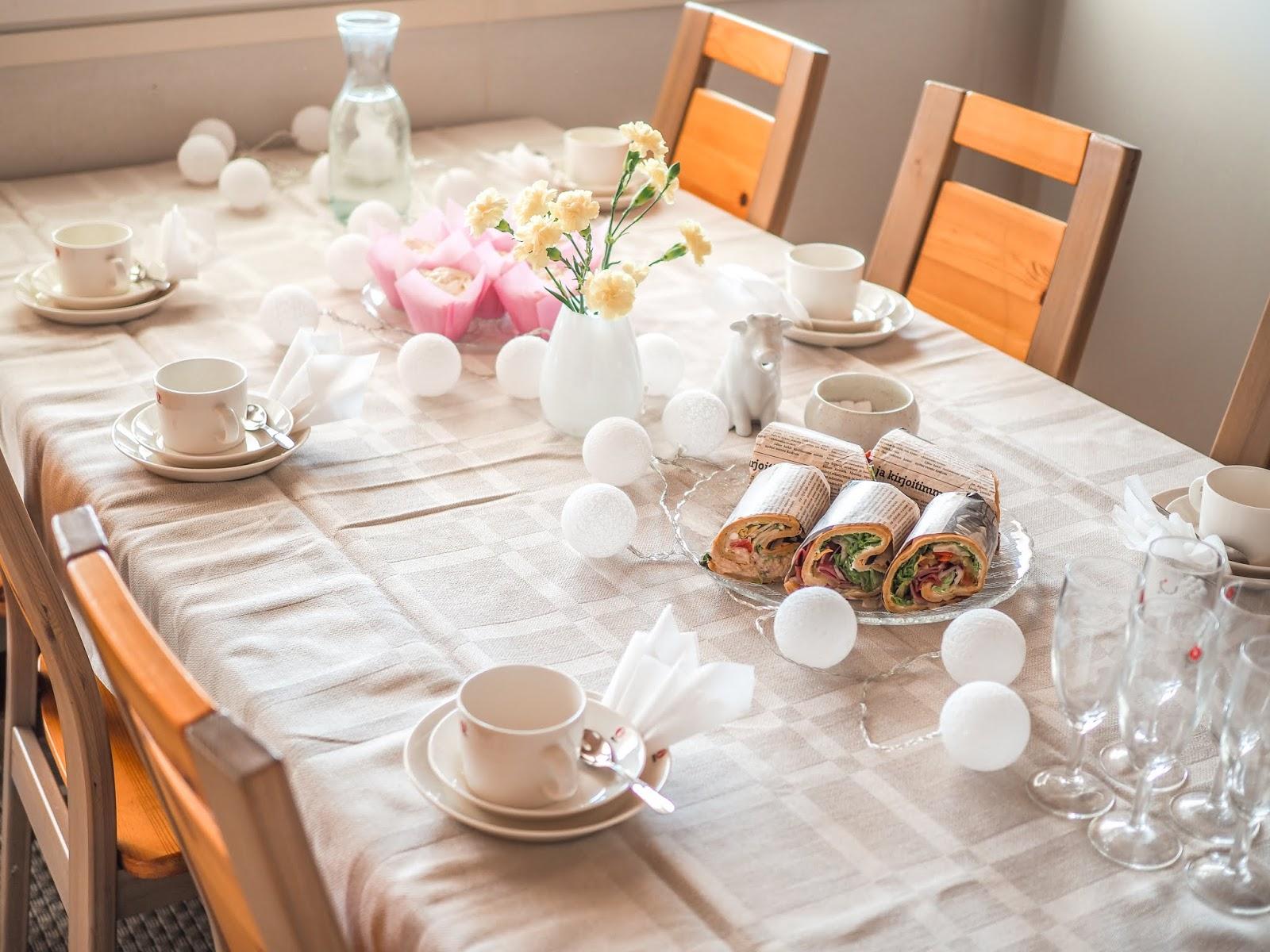 Kahvipöydän kattaus