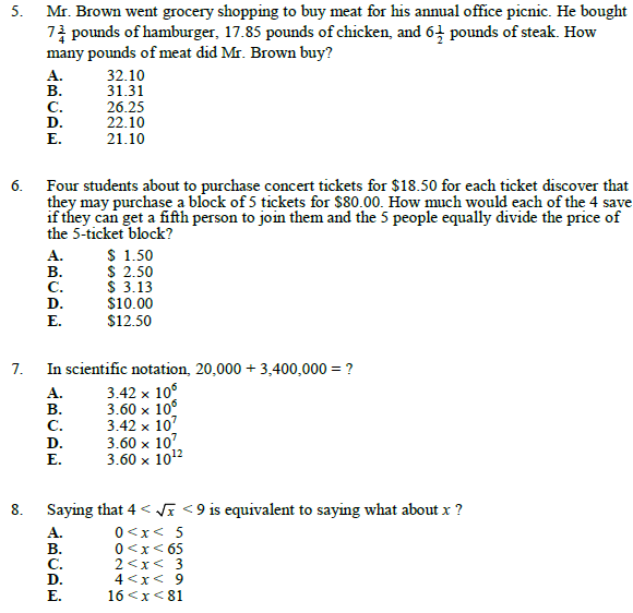 Algebra test paper for ssc ,cet,ctet,competition,free notes for competitive mathematics