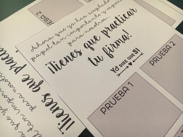 Tarjeta para la firma de testigos de tu boda: descargable gratuito