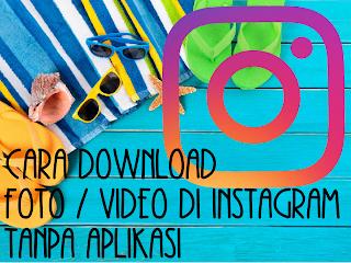cara download foto instagram tanpa aplikasi