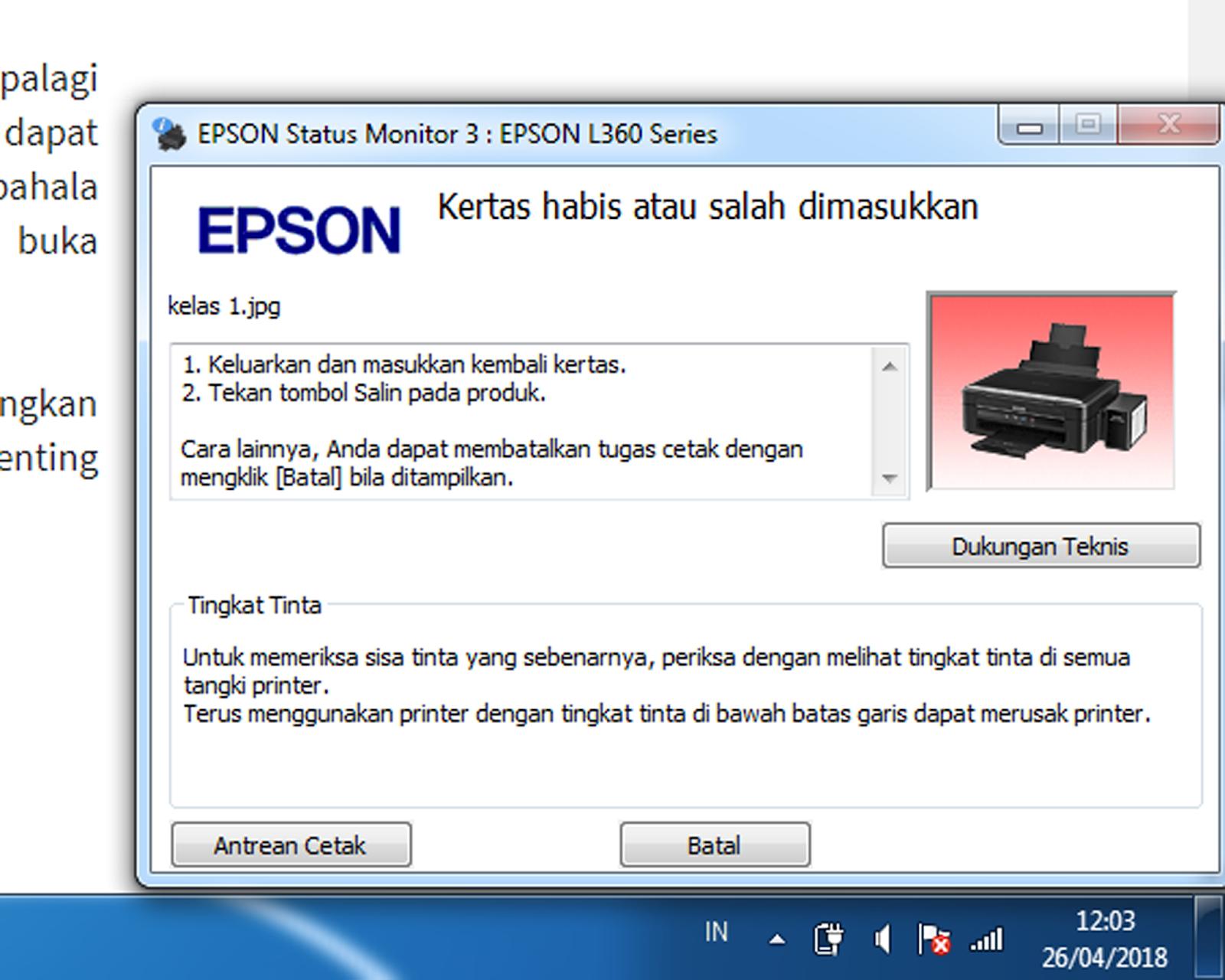 Solusi Printer Epson Tidak Bisa Cetak Kertas Foto Tebal ...