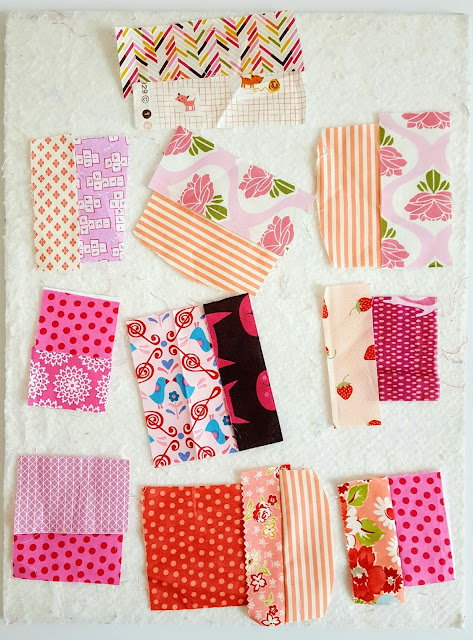 matched up little pink scraps