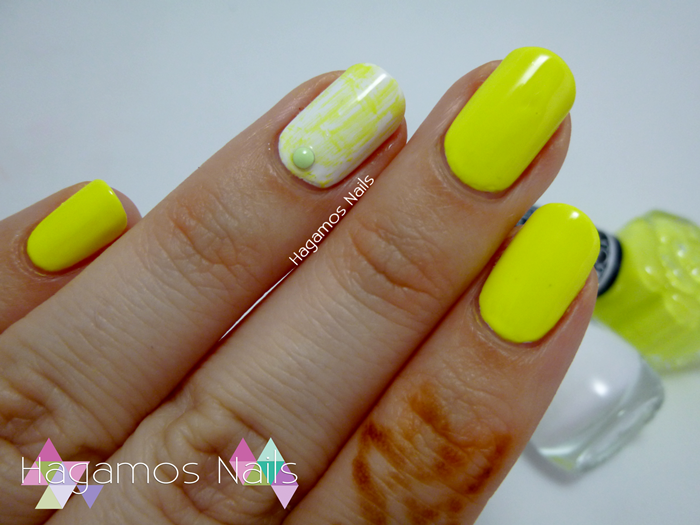 Manicura Amarillo Dry Brush. Hagamos Nails #retocolorescosasdechicasvol4