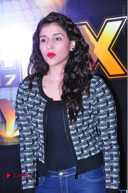 Actress Mannara Chopra Stills in Jeans at Sparx 2017 Curtain Raiser Event  0034.JPG