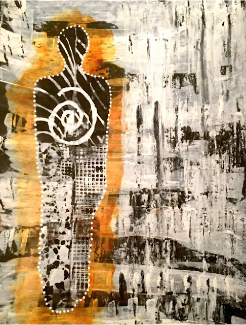 michaele ignon monoprint collage