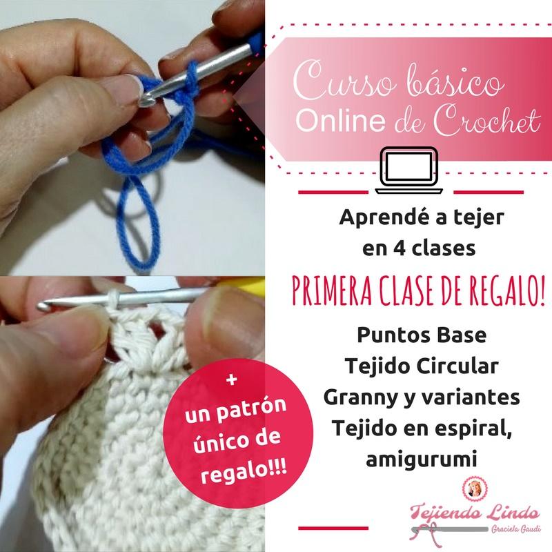 Crochet: curso a distancia, 4 clases para aprender a tejer!