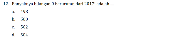 LATIHAN PERSIAPAN OSK MATEMATIKA SMP 2017 KELIMA