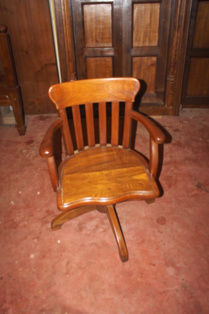 Teak Wood Revolving Chair Personalized Makeup Fhamitha Antiques Teakwood