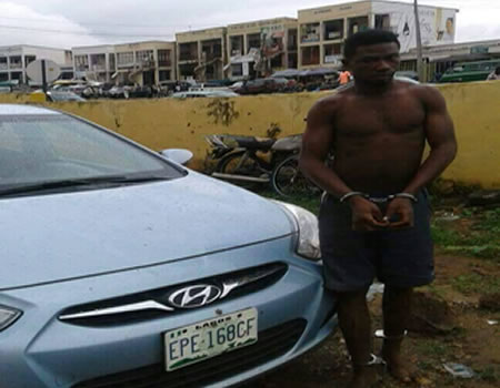 man snatches church member car with knife