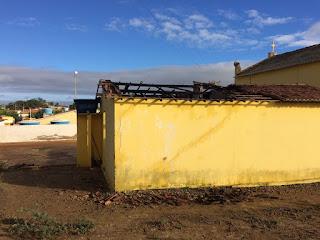 Incêndio na casa paroquial do distrito de Santa Luzia do Seridó em Picuí