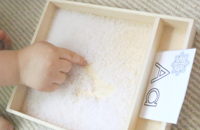 snow writing tray