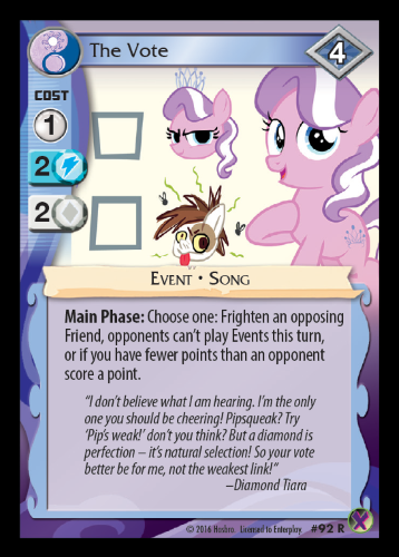 and up in the ultra rare two color cards we have rainbow dash kicking flank in the alternate timeline where the crystal empire invaded equestria - All The Colors Of The Rainbow Song