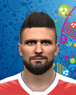 PES 2016 Olivier Giroud Face by GFB1907