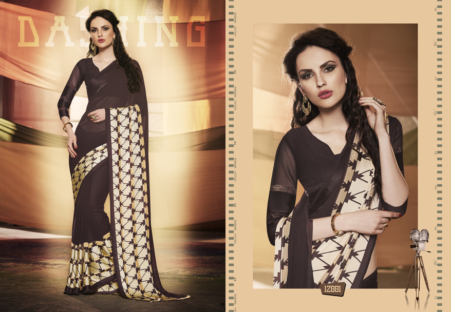 Grazia Nx – Georgette Casual Wear Printed Saree Wholesale