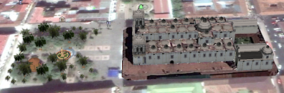 Google Earth 3D image (created by Denoall) of Léon Cathedral in Nicaragua