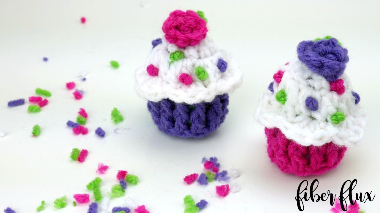 Fiber Flux Free Crochet Patterncelebration Cupcake