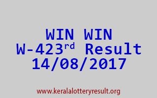 WIN WIN Lottery W 423 Results 14-8-2017
