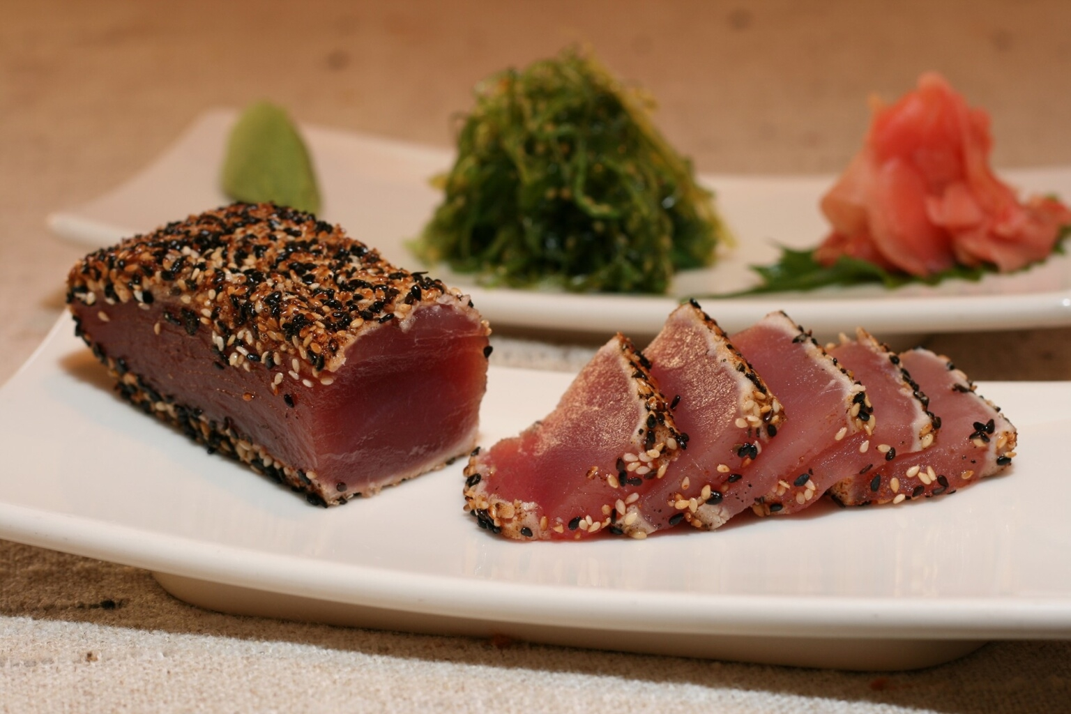 seared tuna teriyaki