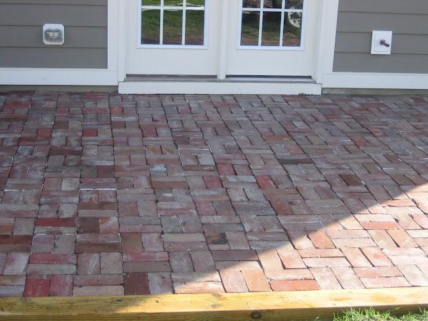 Concrete Patio with Brick