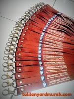 Sentra produksi tali ID card lanyard murah di Jakarta