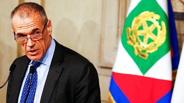 El exdirectivo del FMI Carlo Cottarelli se convierte en primer ministro interino de Italia