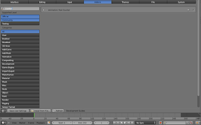 Screenshot User Preference pada Blender