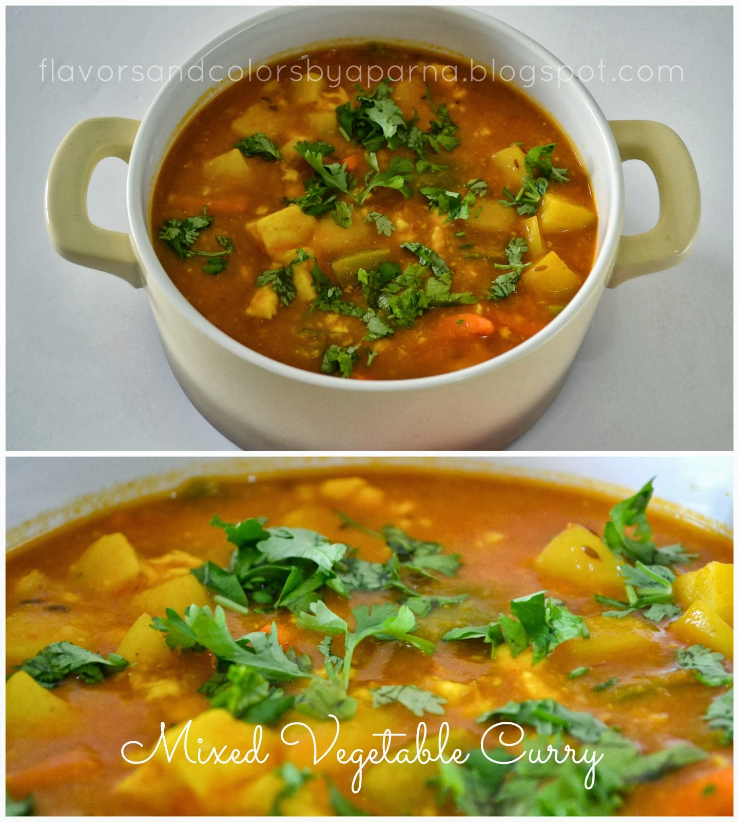 Mixed vegetable curry no onion garlic recipe flavors n colors mixed vegetable curry no onion garlic recipe forumfinder Images
