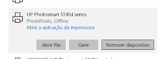 remover impressora no windows 10
