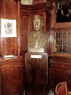 Busto de Borges no Café Tortoni, em Buenos Aires
