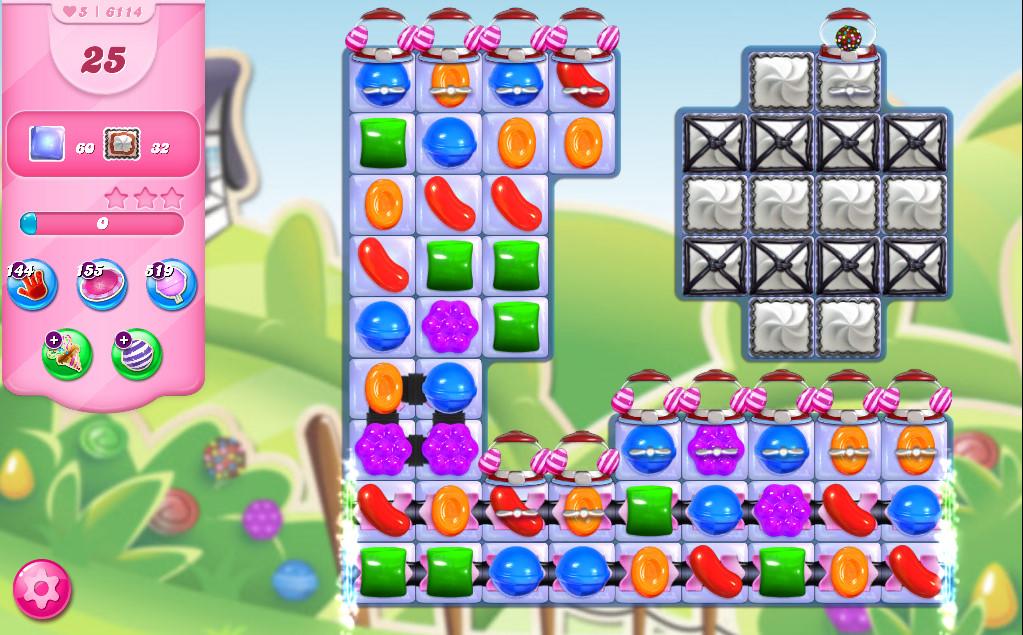 Candy Crush Saga level 6114