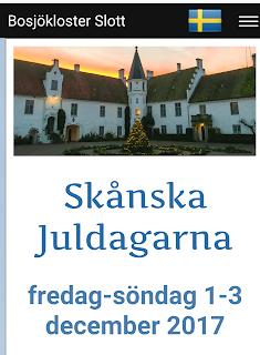 Bild på Bosjöklsoster slott och deras julmarknad