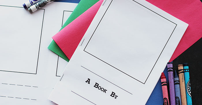 Make Your Own Book Cover Craft ~ Make your own book for kids free printable sunny day