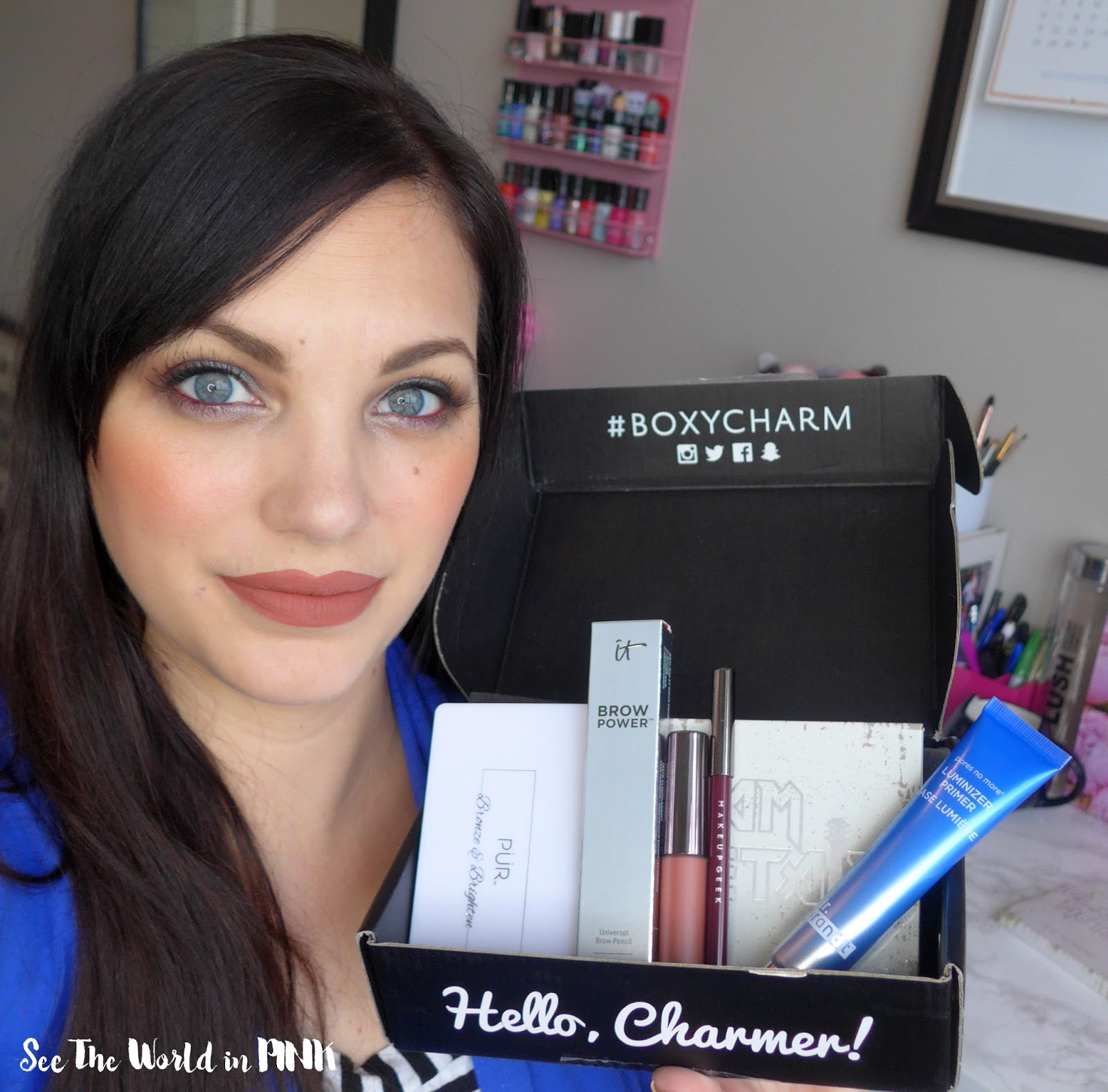 January 2018 Boxycharm - Unboxing, Swatches, Full Makeup Try-on and Review!
