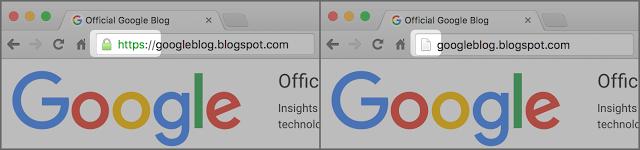 L'indicateur HTTPS dans le navigateur Chrome